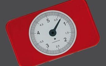 Kuchyňská digitální váha SCALE červená, Zassenhaus