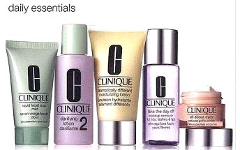 Clinique Daily Essentials Dry Combination Skin dárková sada pro ženy - 50ml DDML + 15ml All About Eyes + 30ml Liquid Facial Soap Mild + 60ml Clarifying Lotion 2 + 50ml Take the Day Off Makeup Rem Suchá smíšená pleť