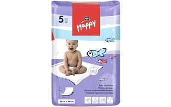 Přebalovací podložka Bella Baby Happy 60x90 cm, 5 ks Svačinový box Bella Baby Happy (zdarma)