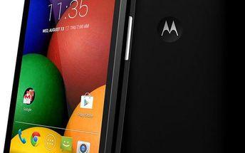 Mobilní telefon Motorola Moto E, černý