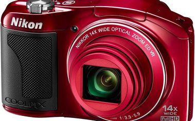 Fotoaparát Nikon Coolpix L610, červený
