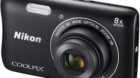 Digitální fotoaparát Nikon Coolpix S3700, černý