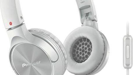 Náhlavní sluchátka Pioneer SE-MJ522T-W, bílé