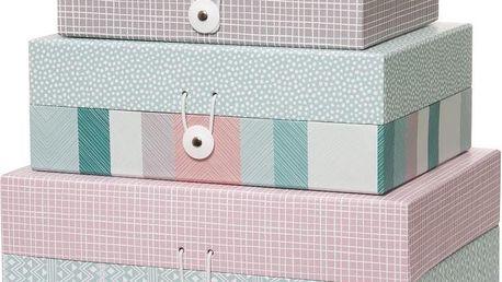 Sada 3 krabiček Aztec Design