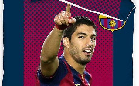 Tip Trade Bavlněné povlečení FC Barcelona Suarez, 140 x 200 cm, 70 x 80 cm