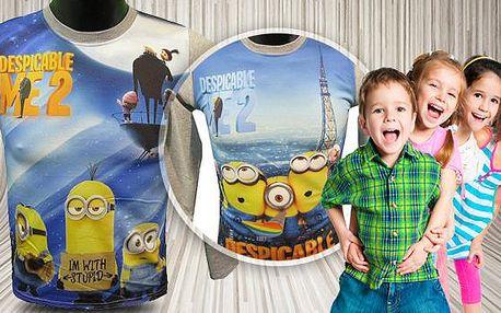 Dětské tričko Mimoni - dlouhý rukáv. Výběr ze 2 motivů a více barev. Velikosti pro děti od 3 do 12 let.