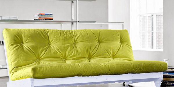 Rozkládací sofa Fresh bílá/pistacie - doprava zdarma!