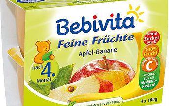 Expiraca 2.7.2016: BEBIVITA 100% Ovoce Jablka s banány, (4x100 g)