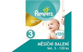 Pampers Plenky PremiumCare 3 Midi - 120 ks
