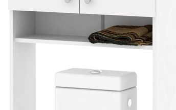 LUNA, skříňka vysoká nad WC či pračku LU05, bílá