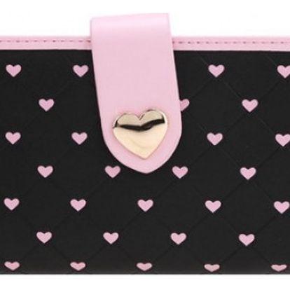 Dámská peněženka se srdíčky Love - VÝPRODEJ