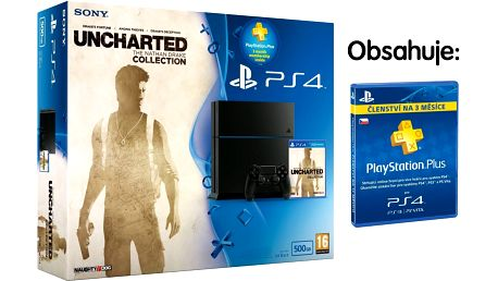 Herní konzole Sony Playstation 4+ Uncharted + PS