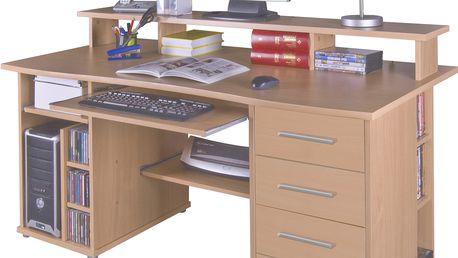 Praktický PC stůl FRANZ, buk