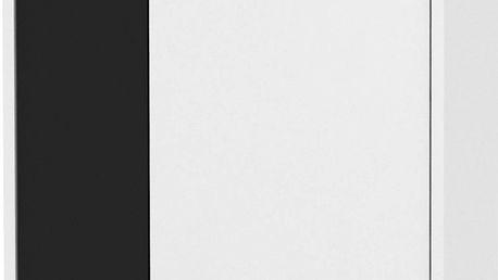 Komoda ZU03, černá/bílá