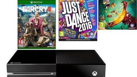 Microsoft Xbox One 1 TB + hra XONE Far Cry 4 + hra XONE Rayman Legends + hra XONE Just Dance 2016 (MSOH00037 ) + Doprava zdarma