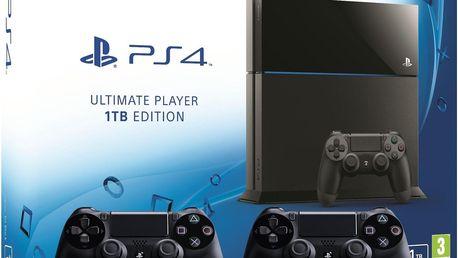Herní konzole Sony Playstation 4 - 1TB Ultimate Player Edition + 2x dualshock