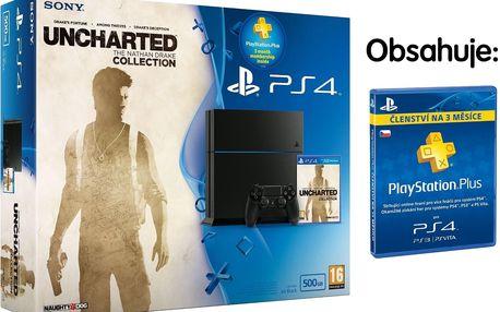 Herní konzole Sony Playstation 4+ Uncharted + PS