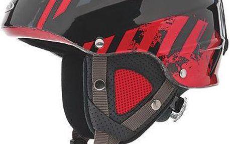 Lyžařská helma Alpina Grap, černá/červená, 54-57