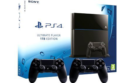 Herní konzole Sony Playstation 4 - 1TB Ultimate Player Edition + 2x dualshock