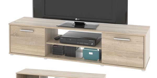 Televizní stolek ZU01, dub sonoma