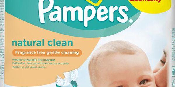 PAMPERS Ubrousky Natural Clean (6x64ks) - čistící ubrousky