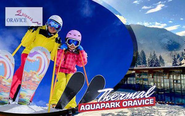 Celodenní skipas nebo kombinace pro komplexní zážitek - neomezené lyžování a koupání v Aquaparku Oravice v jeden den