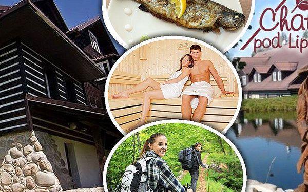 Pobyt pro dva s polopenzí v penzionu Chata pod lipami. Zapůjčení čtyřkolky, kola, sauna a fitness!!