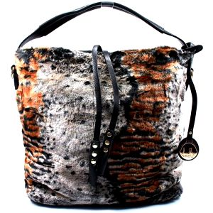 Kožešinová kabelka 2335-24COF.B UNI
