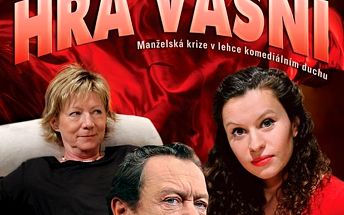Vstupenka na divadelní komedii Hra vášní 28.02.2016 v Plzni! Oldřich Vízner, Dana Syslová a další..