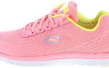 Neonově růžové dámské sportovní tenisky Skechers Obvious Choice