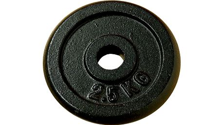 Závaží na činky 2,5 kg černé litina