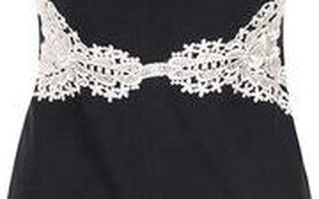Černé šaty s bílou krajkou AX Paris