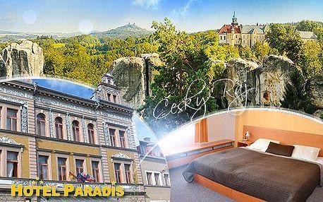 Český Ráj, Hotel Paradis*** na 4 dny včetně snídaní nebo polopenze, moučníku a kávy + solná jeskyně se slevou!