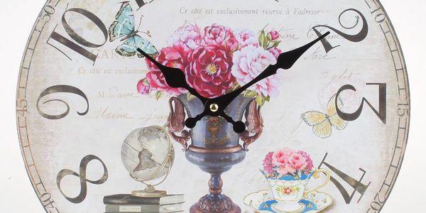 Nástěnné hodiny Lovely Flowers