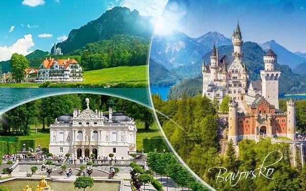 Bavorsko! Zájezd pro 1 osobu na zámky, jezera, soutěsky od března do května - bohatý program! Mnoho nástupních míst!