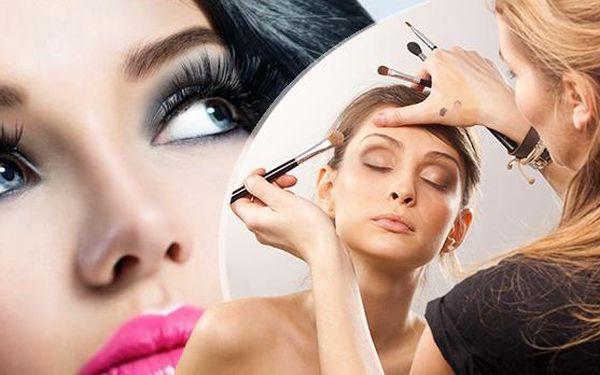 2hod. individuální kurz líčení, 5hod. kurz líčení s certifikátem nebo 3denní vizážistický kurz ve Studiu Pink!