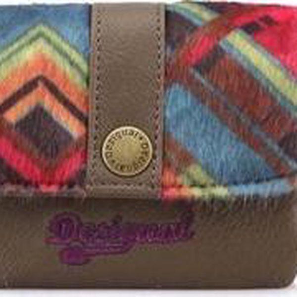 Barevná vzorovaná peněženka Desigual Squaring