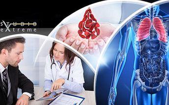 Diagnostické vyšetření přístrojem METATRON + analýza kapky krve, měření tlaku, analýza moči a tuku.