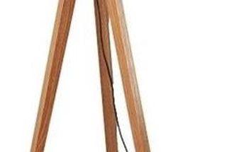 Stojací lampa Decortie Tripod Black/Walnut, černo-hnědá