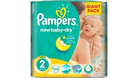 Pampers New Baby-dry vel.2 Mini, 100ks