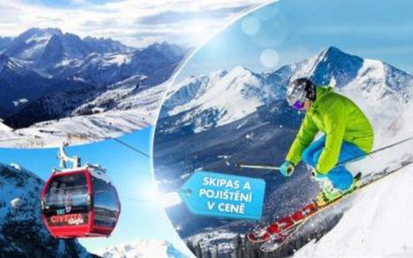 DNES KONČÍ! Itálie, Dolomity - lyžařský zájezd! Hotel*** na 2 noci, polopenze, 3denní skipas, doprava a pojištění!