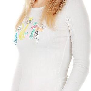 Tričko s kamínkovým potiskem bílá