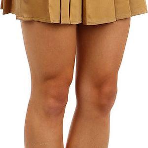 Dámská skládaná sukně béžová