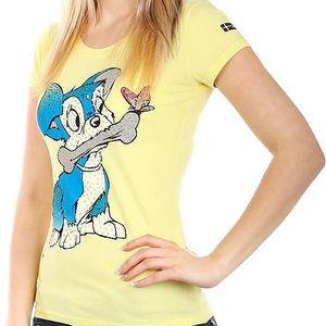 Příjemné tričko s roztomilým obrázkem žlutá