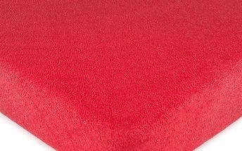 4Home froté prostěradlo červená, 90 x 200 cm