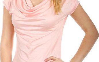 Krásné elegantní tričko světle růžová