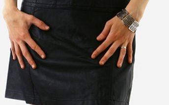 Neodolatelné šaty umělá kůže černá