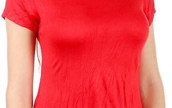 Pohodlné tričko s krátkým rukávem červená