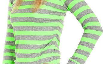 Barevné pruhované tričko zelená