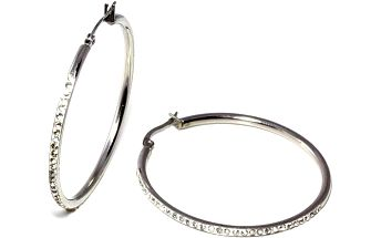 Náušnice kruhy s kamínky